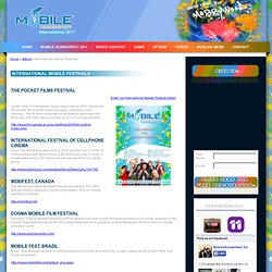Mobile Screenfest - International Mobile Festivals