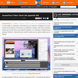 ScreenFlow 5 filme l'écran des appareils iOS