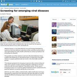 Screening for emerging viral diseases