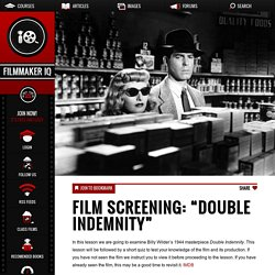 "Film Screening: ""Double Indemnity"""