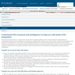 ESG Research Providers