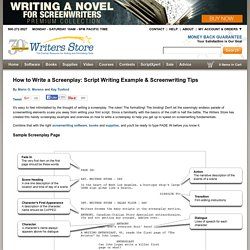 How to Write a Screenplay: Script Writing Example & Screenwriting Tips