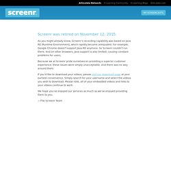1. Screenr- Record an send to YouTube