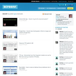 Screencasts by sbrandt