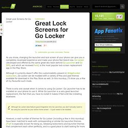 Great Lock Screens for Go Locker
