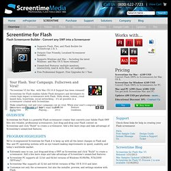 Convert Flash SWFs to Screensavers for Mac and PC