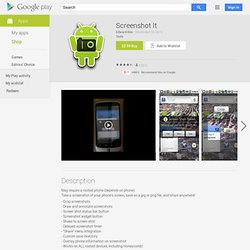 Screenshot It - Android Market