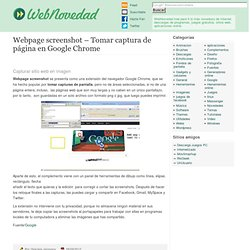 Webpage screenshot – Tomar captura de página en Google Chrome
