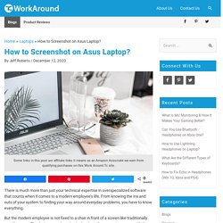How to Screenshot on Asus Laptop? (4 Easy Methods)