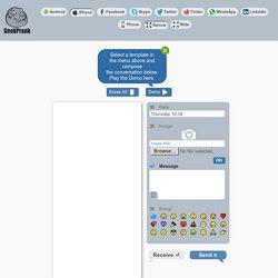 Chat ScreenShot Generator - Fake messenger text for Facebook, Twitter, Skype