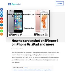 How to screenshot on iPhone 6 or iPhone 6s easy and simple way