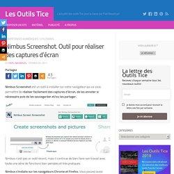 Nimbus Screenshot. Outil pour réaliser des captures d'écran – Les Outils Tice