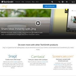 Jing, instant screenshots and screencasts, home