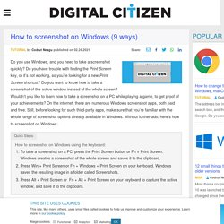 9 ways to take a screenshot on a Windows PC, laptop, or tablet, using built-in tools