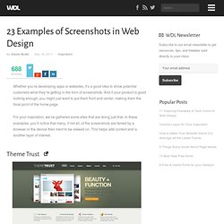 23 Examples of Screenshots in Web Design