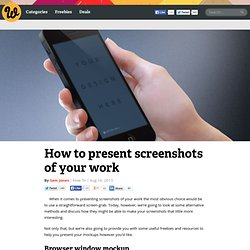 How to present screenshots of your work