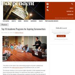 Top 10 Academic Programs for Aspiring Screenwriters
