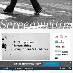 10 Important Screenwriting Competitions & Deadlines - AFW