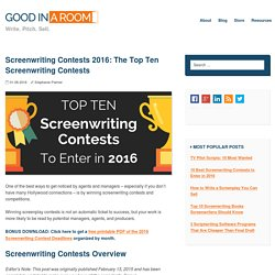 Screenwriting Contests 2016- The 10 Best
