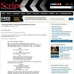This Scene Sucks: 15 Screenwriting Mistakes to Avoid