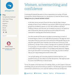 Women, screenwriting and confidence