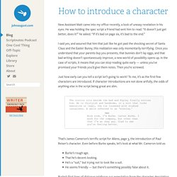 How to introduce a character