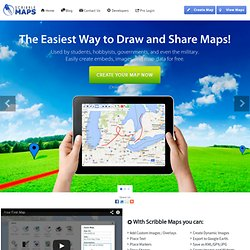 Scribble Maps - Create custom google maps with scribblings and more!