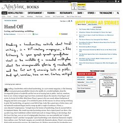 Script & Scribble: The Rise and Fall of Handwriting -- New York Magazine Book Review