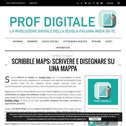Scribble Maps: scrivere e disegnare su una mappa