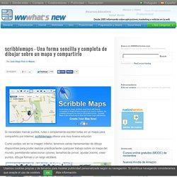 scribblemaps – Una forma sencilla y completa de dibujar sobre un mapa y compartirlo