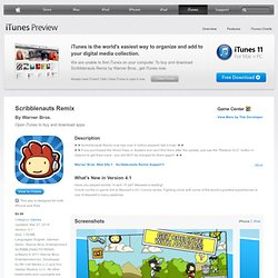Scribblenauts Remix for iPhone 3GS, iPhone 4, iPhone 4S, iPod touch (3rd generation), iPod touch (4th generation) and iPad on the iTunes App Store
