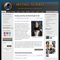 Mythic Scribes - Fantasy Writing Community