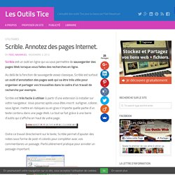 Scrible. Annotez des pages Internet
