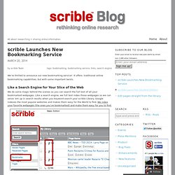 Launches New Bookmarking Service