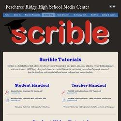 Scrible Help - Peachtree Ridge High School Media Center