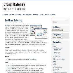 Craig Maloney » Scribus Tutorial