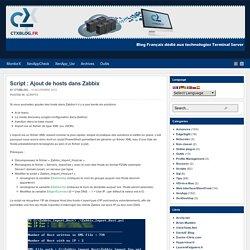 Script : Ajout de hosts dans Zabbix