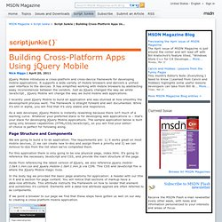 Script Junkie | Building Cross-Platform Apps Using jQuery Mobile