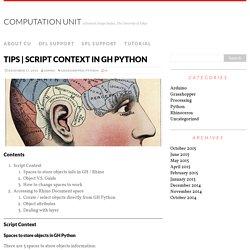 Script Context in GH Python