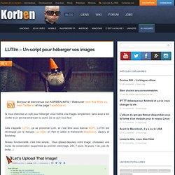 LUTIm - Un script pour héberger vos images