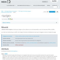 <script> - HTML (HyperText Markup Language)