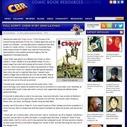 FULL SCRIPT: Chew #1 by John Layman