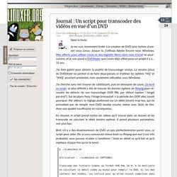 Un script pour transcoder des vidéos en vue d'un DVD