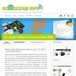 Un script Python comme serveur SMS
