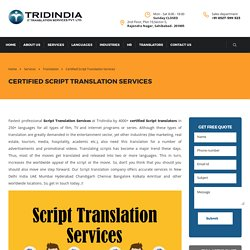 Why Script Translation Companies Are Spending More in Germany?