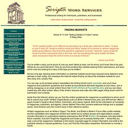 Scripta Word Services Editing and Writing - Finding Markets