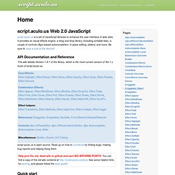 Home — Scriptaculous Documentation