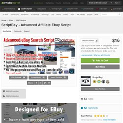 PHP Scripts - ScriptBay - Advanced Affiliate Ebay Script