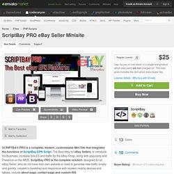 PHP Scripts - ScriptBay PRO eBay Seller Minisite