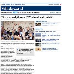 'Tien voor scriptie over PVV schaadt universiteit' - opinie